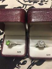 Lot Of 2 Tivoli Nice Fashion Jewelry Rings From Dillards Size 9