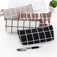 Zipper Pencil Pen Case Cosmetic Makeup Bag Storage Pouch Purse Students Retro