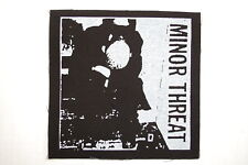 "Minor Threat Cloth Patch Sew On Badge Adicts  Punk Rock 4.5""X4.5"" (CP203)"
