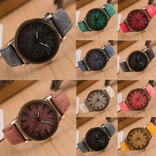 New Men Women Fashion Leather Band Analog Bracelet Quartz Cowboy Wrist Watch