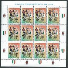 1999 ITALIA MINIFOGLIO MILAN CAMPIONE D'ITALIA CALCIO MNH ** - ED