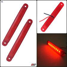 2 piezas 24v 9 Led Rojo Luz de señalización LUCES CAMIÓN MAN DAF Scania Iveco