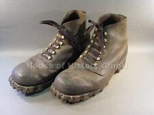 Schweiz: Schweizer Armee Schuhe für Gebirgsjäger, Tricouni Brev, Bergschuhe 1961