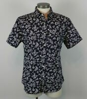 Banana Republic Men's Stretch Soft Wash Short Sleeve Button Up Shirt Size L