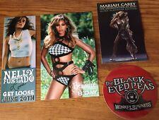 Beyonce Mariah Carey Nelly Furtado Sexy flyer Cards + Black Eyed Peas Sticker