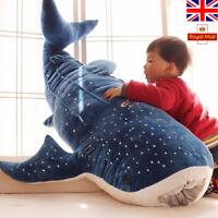 Stuffed Plush Animals Blue Shark Plush Toys Big Fish Cloth Doll Whale Kids Gift