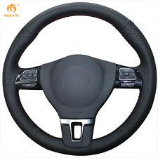 Black Leather Steering Wheel Cover for VW Tiguan Touran Passat B7 CC Jetta Mk6