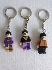 Custom Handmade LEGO Selection Of The Beatles Keychains