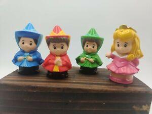 Fisher Price Little People Disney Sleeping Beauty Aurora 3 Fairy Godmothers