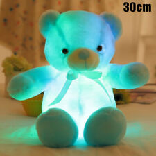 Colorful Creative Light Up LED Teddy Bear Stuffed Animal Plush Baby Girls Toy
