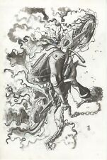 """Ghost Rider by Marvel Artist, Keron Grant ,11""""x17"""" on art board, signed."""