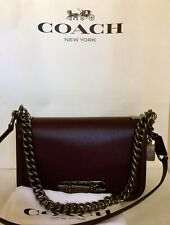 COACH 54640 SWAGGER GLOVETANNED LEATHER SWAGGER SHOULDER BAG DK/OXBLOOD NWT