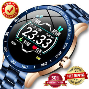 Lige Steel Band Smart Watch Men Sport Heart Rate Blood Pressure Monitor Multifun