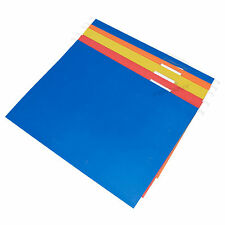 50 x Colour A4 Hanging Suspension Files Tabs Inserts Filing Cabinet Folders Set