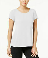 Ideology Women's Slit-Back Pullover T-Shirt Bright White X-Large Size Macy's