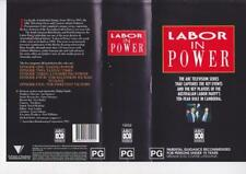 LABOR IN POWER  THE ABC TV SERIES VHS VIDEOS PAL~ A RARE FIND