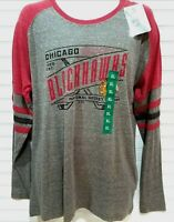 Chicago Blackhawks Shirt NHL Official Longsleeve Raglan Men's Size XL Hockey