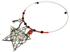 Star And Bead Choker Necklaces Fashion Jewellery 11466a