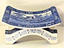 *RAREST MUSEUM ANTIQUE 1894 COPELAND SPODE TOWER ASHANTI BLUE & WHITE FOOT STOOL
