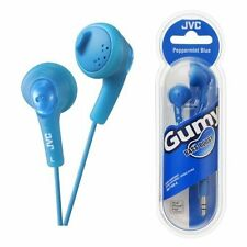 JVC Gumy In-Ear Headphones iPod and iPhone Compatible - Gold Plated Jack - Blue