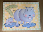Kootie Bug Designs Canvas Giclee Hippo Artwork for Child