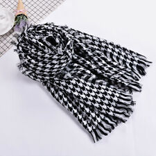Lady Houndstooth Large Scarf Ladies Winter Soft Casual Dogtooth Cape Shawl Wraps