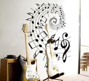 Musical Notes Rotation School Classroom Wall Decoration Stickers Flat Glass New