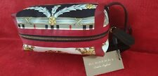BURBERRY multicoloured Archive Scarf print cotton and leather pouch - BNIB