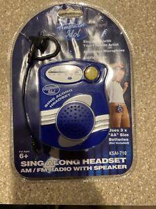 New Sealed American Idol Sing Along Headset am/fm radio with Speaker KSAI-710