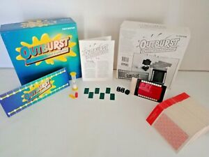 Outburst Adult Game Of Verbal Explosion First Edition Parker Brother 1991