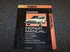 1989 Toyota Tercel Hatchback Workshop Shop Service Repair Manual EZ DX 1.5L