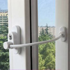 8x UPVC Window Restrictor Safety Cable Lock Wire kids Child Security locks Tools