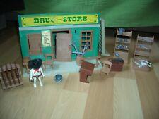 Playmobil drugstore western réf 3424 version n°1 de 1976 Très rare !