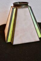 Art Deco  2 Color Tulip Slag Glass Light Lamp Shade