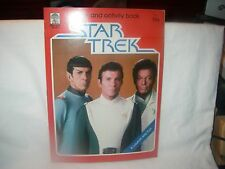 Rare Vintage Star Trek Color And Activity Book Kirk Spock And McCoy 1979 Unused