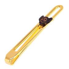 NAZARENO GABRIELLI Geldclip / Krawattennadel, vergoldet, Geldscheinklammer, NEU