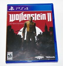 Replacement Case (NO GAME) Wolfenstein 2 Playstation 4 PS4 Box