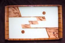 ART DECO SERVIER TABLETT 1930 Hinterglas Holz 30er Jahre Servierplatte Tray