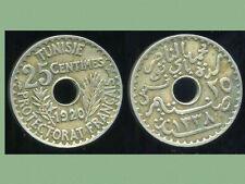 TUNISIE  TUNISIA  25 centimes 1920   ( etat )