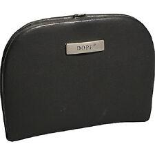 New Buxton DOPP 6 pc Manicure Set Travel Kit BLACK Leather Nice gift Men Women