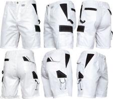 Kurze Hose Malerhose weiß grau Shorts Sommerhose Bermuda Arbeitshose Gr.44-60