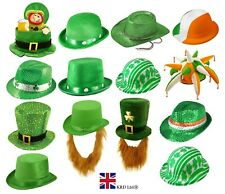 ST. PATRICKS DAY HATS Fancy Dress Costume Accessory Party Irish Gold Hat NEW UK