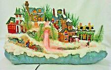 Fiber Optic Lighted Holiday Christmas Village SEE VIDEO Avon FSC F48501-1 2003