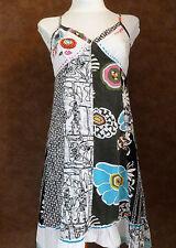 Robe FRIME T38 - Robe à bretelles noire et blanche imprimée fleurs (1606086)