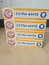 4 x Arm & Hammer Baking Soda Extra White Toothpaste Fluoride Cavity Protection