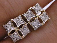 E021 Genuine 9K 9ct Solid Yellow Gold Natural Diamond 0.25ct 1/4ct Stud Earrings