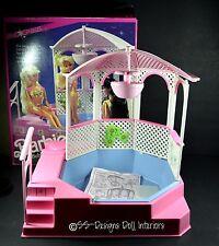Barbie Bubbling Pretty Spa Pink Sparkles Hot Tub Gazebo Water Fountain With Box