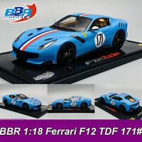 BBR 1:18 Scale Ferrari F12 TDF 171# Car Model Limited 20pcs Model w/Display Case
