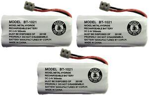 Uniden BT-1021 BT1021 BBTG0798001 Rechargeable Cordless Handset Battery (3-Pack)