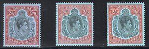 1938-53 Bermuda. SC#124 Shades. SG#117,b,c. Mint, Hinged, VF. 3 Shades